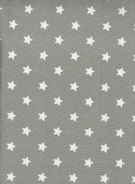 AU MAISON petites étoiles blanches sur gris