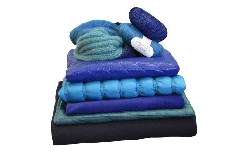 Aniline collection tissus et laine automne hiver 14 harmonie bleue