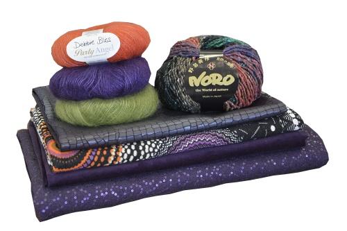 Aniline collection tissus et laines automne hiver 14 harmonie prune