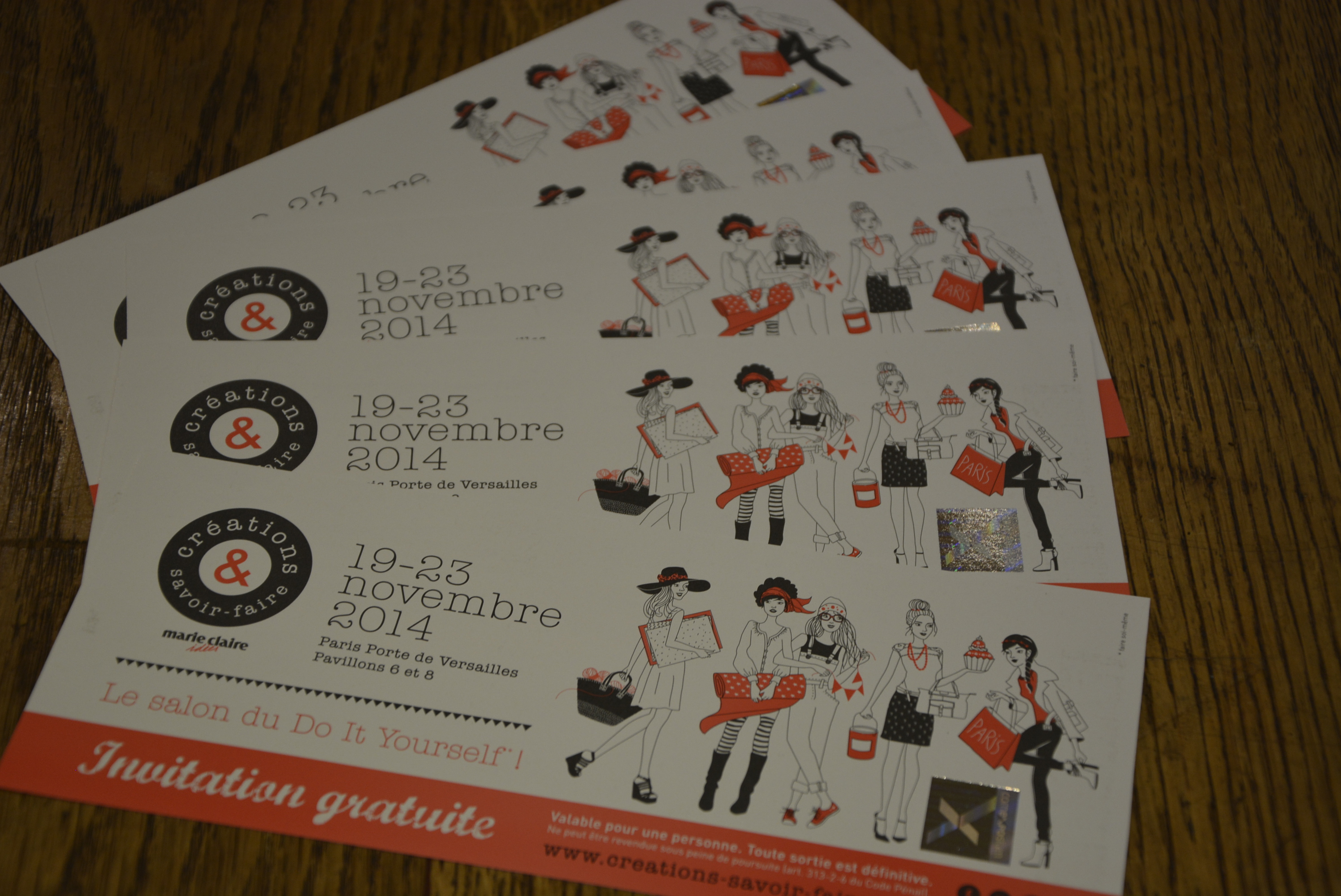 Invitation salon cr ation et savoir faire le blog d 39 aniline - Invitation salon savoir faire et creation ...