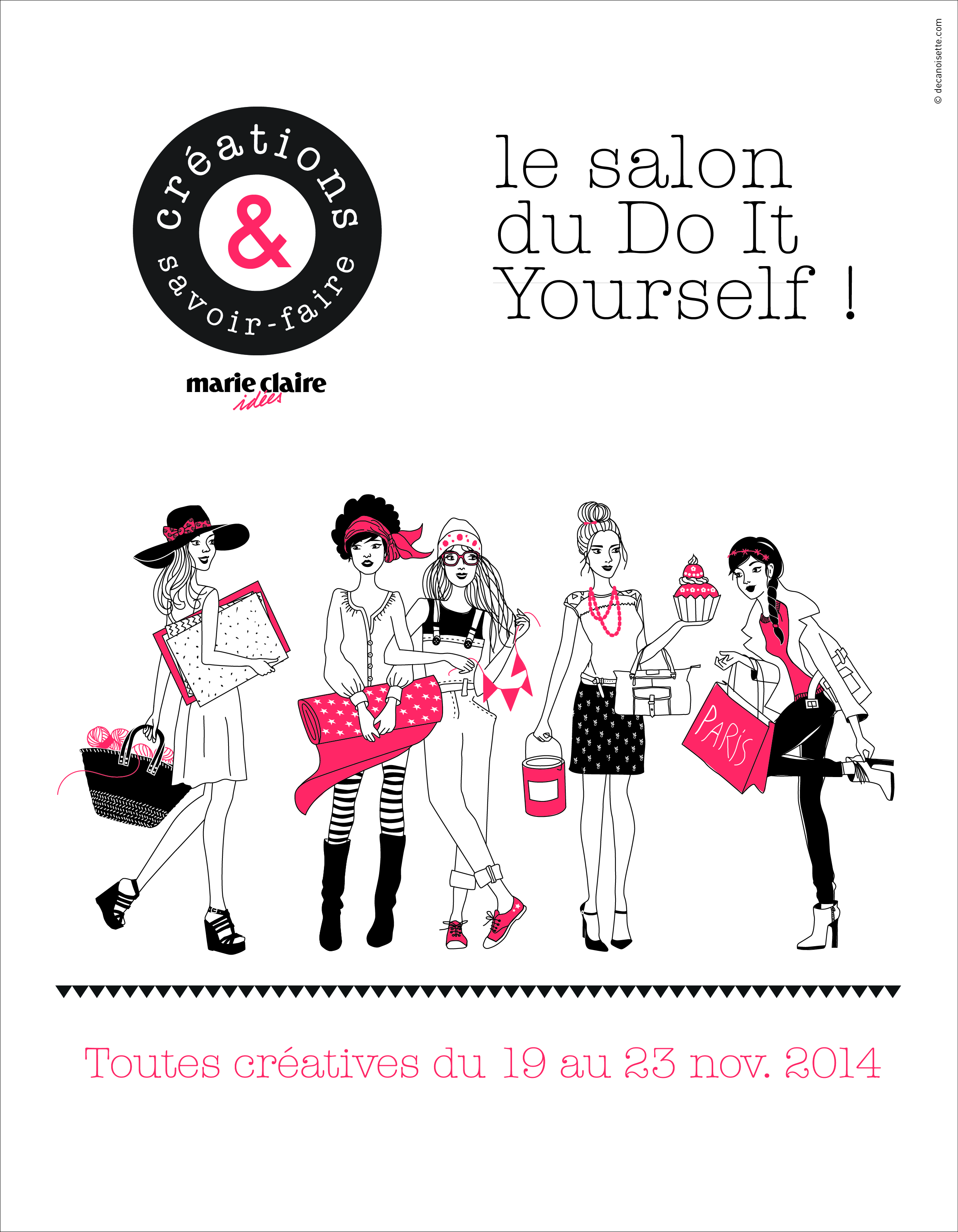 Invitation salon cr ation et savoir faire le blog d 39 aniline for A new creation salon