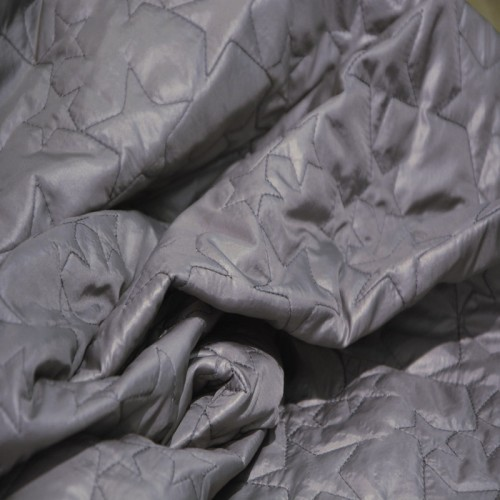 doudoune étoiles gris souris 1