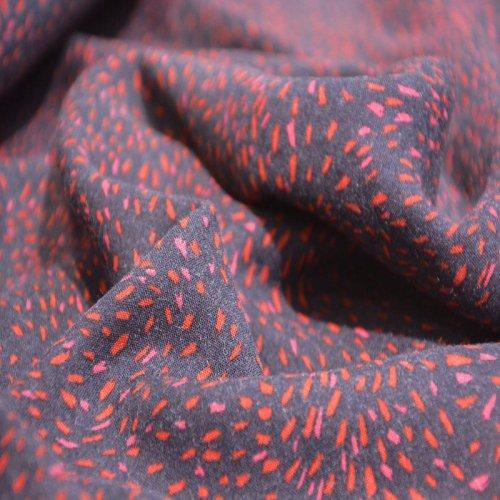 etamine de laine étincelles rouges