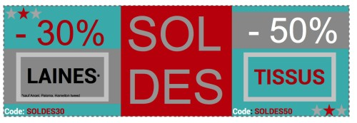 banniere soldes turquoise